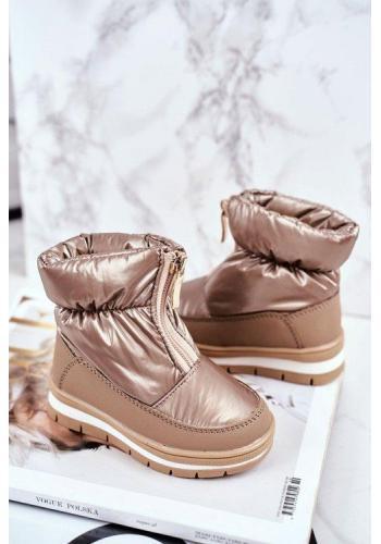 Zlaté vlněné sněhule pro dívky