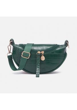 Zelená mini kabelka z ekokůže pro dámy