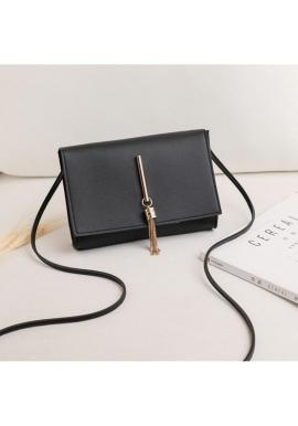 Dámská mini kabelka z ekokůže v černé barvě