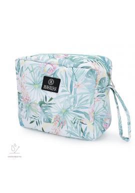 Voděodolný kosmetický kufřík s tropickým motivem