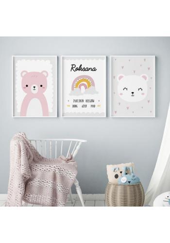 Dětský plakát se zvířecím motivem medvěda
