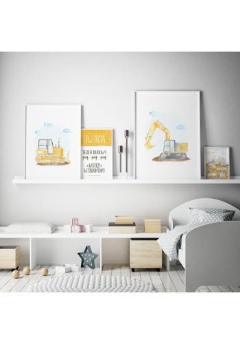 Dětský plakát s motivem bagru do dětského pokoje