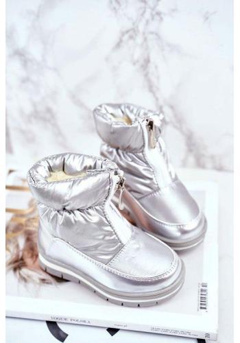Stříbrné vlněné sněhule pro dívky