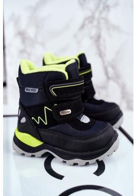 Dětské zimní boty tmavomodré barvy