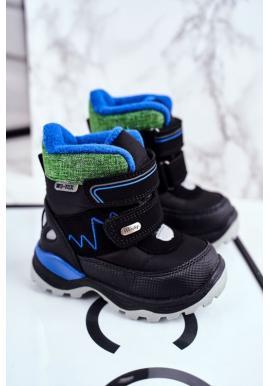Černé zimní boty pro chlapce
