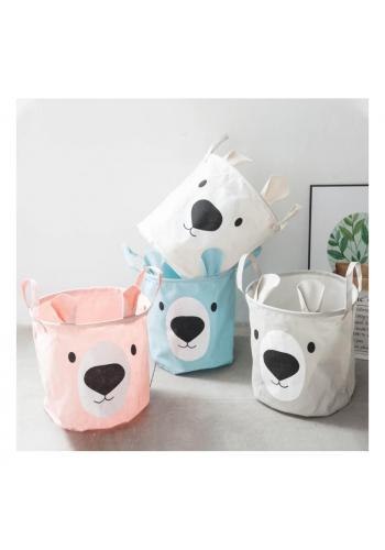 Dětský koš na hračky nebo prádlo s motivem medvěda v modré barvě