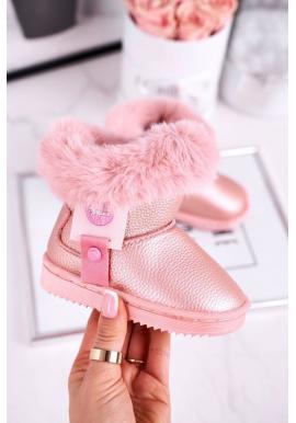 Trendy růžové teplé sněhule pro dívky