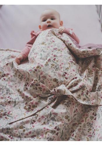 Luxusní zavinovačka pro miminka - retro květy