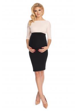 Černá elegantní těhotenská sukně klasického střihu