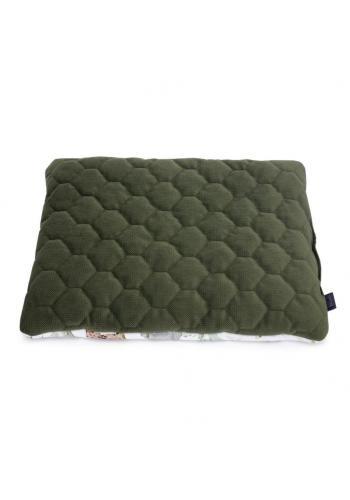 Zelený malý sametový polštář pro děti s motivem Savany
