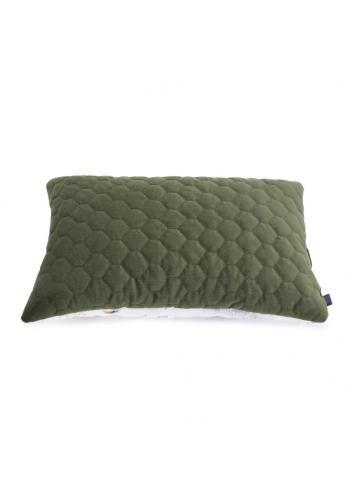 Dětský sametový polštář zelené barvy s motivem Savany