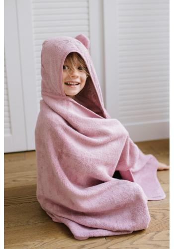 Růžový bambusový ručník pro děti