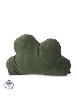 Sametový polštář - oblak v zelené barvě