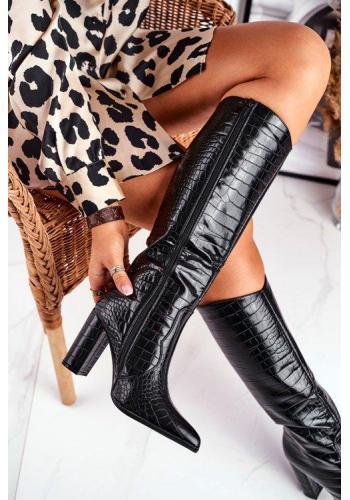 Stylové dámské boty na vysokém podpatku