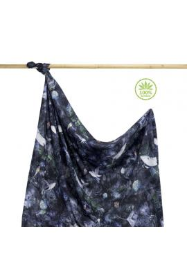 Bambusová deka na léto s motivem magického lesa