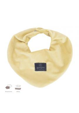 Žlutý oboustranný sametový šál na suchý zip