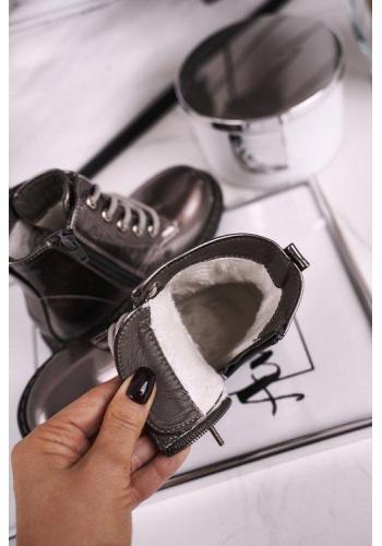 Metalické šedé zdobené WORKERY pro dívky