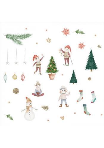Sada nálepek s vánočním motivem