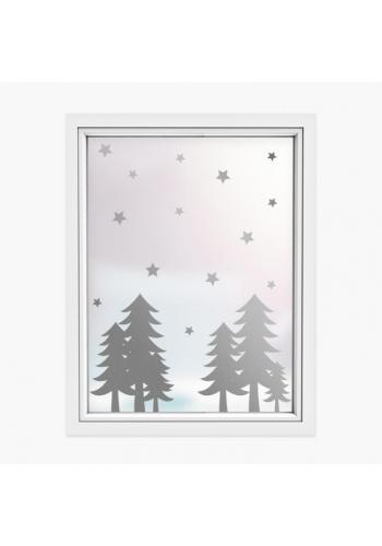 Sada nálepek v podobě vánočních stromků a hvězd