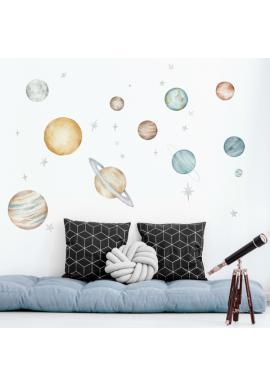 Sada nálepek s vesmírným motivem planet
