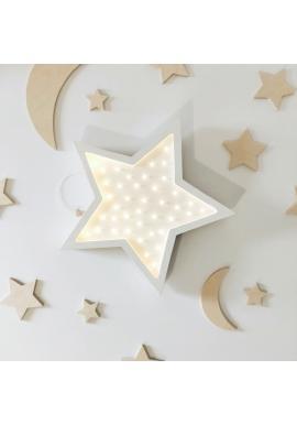 Dětské dřevěné lampy v podobě hvězd