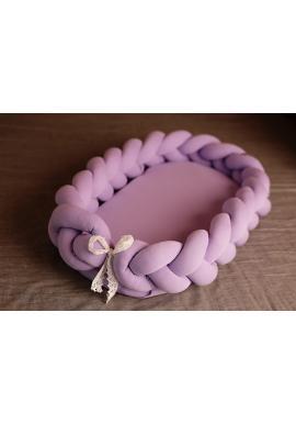 Uzlíkové dětské hnízdo 2v1 ve fialové barvě