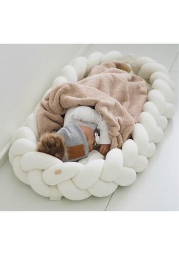 Uzlíkové dětské hnízdo 2v1 v barvě ecru