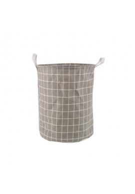 Koš na hračky nebo prádlo s mřížkovaným vzorem v šedé barvě