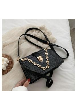 Černá elegantní kabelka z ekokůže pro dámy