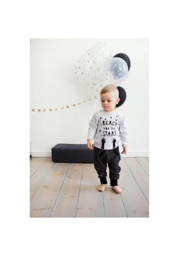 Dětské černo-šedé kalhoty