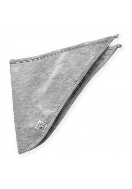 Bavlněný dětský šátek šedé barvy