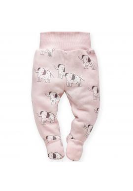 Pohodlné dětské polodupačky růžové barvy