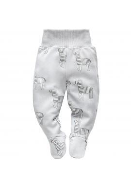 Dětské polodupačky šedé barvy se zebrami