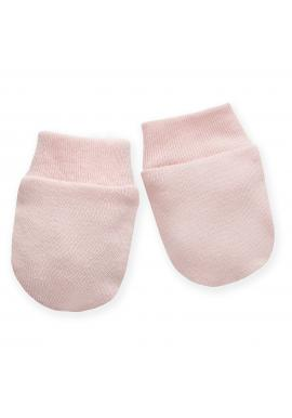 Růžové rukavičky pro miminka