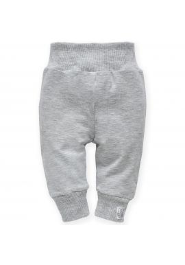 Stylové dětské tepláky v šedé barvě