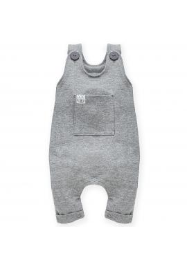 Dětské tepláky na šle v šedé barvě