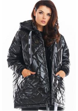 Černá prošívaná bunda s oversize střihem pro dámy