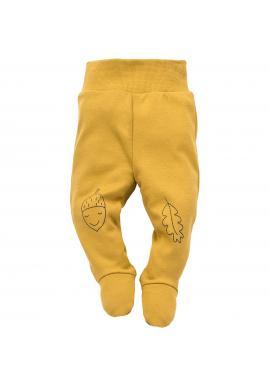 Dětské polodupačky žluté barvy s veselým motivem
