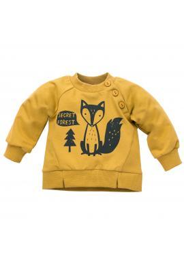 Stylová dětská mikina s motivem lišky ve žluté barvě