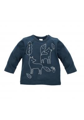 Chlapecké tričko tmavě modré barvy s motivem lišky