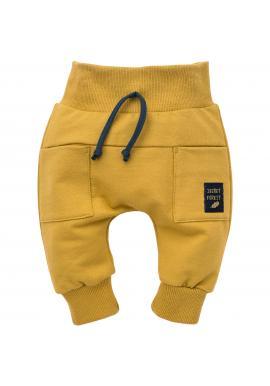 Stylové dětské tepláky ve žluté barvě