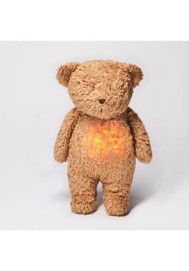 Šumiaci MOONIE medvídek v hnědé barvě s podsvícením
