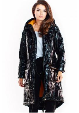 Oversize dámská bunda černé barvy s velkou kapucí