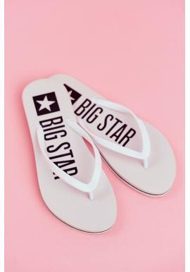 Trendy dámské žabky BigStar bílé barvy