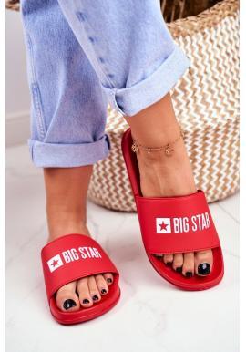 Módní červené pantofle pro dámy Big Star