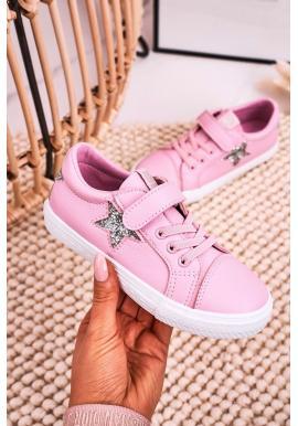 Dětské tenisky Big Star na suchý zip v růžové barvě