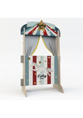 Dřevěná retro Cirkusová opona pro děti