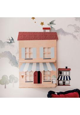 Dětská dřevěná polička - Můj italský domeček