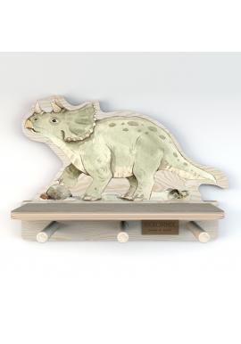Dětská polička s věšáčky Dinosaurus