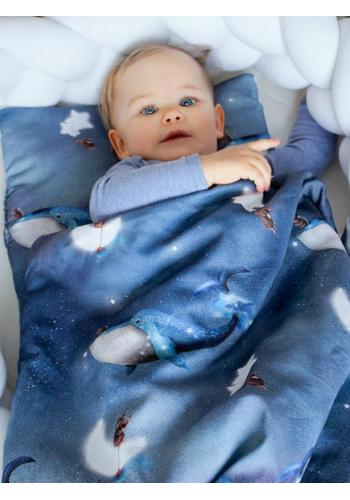 Výbava pro novorozence Velvet 4v1 - Ocean Dreams / bílá